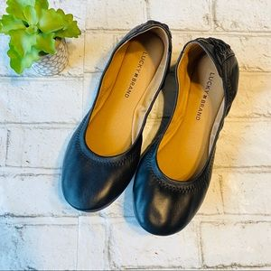 Lucky Brand Leather Ballet Flats Size 8M